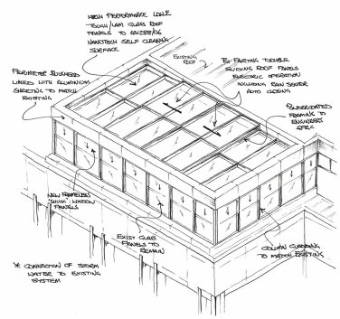Plans for a glass sunroom